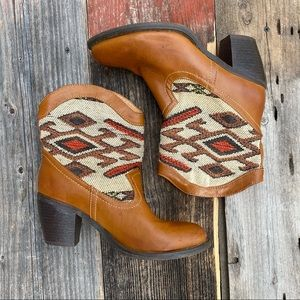 Wanted Tapestry Vegan Leather Western Boots